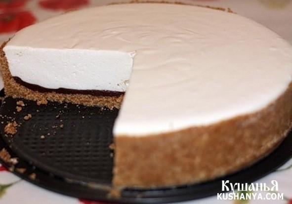 Фото Творожный торт с шоколадом