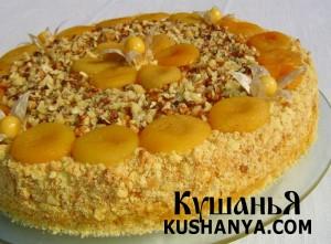 Торт «Абрикосовое безумие» фото