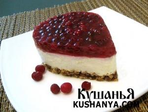 Исландский торт с брусникой фото