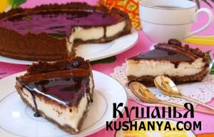 Сырный чизкейк с шоколадом фото