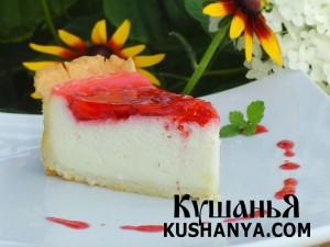 Клубничный торт с суфле фото
