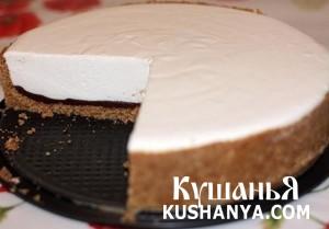 Творожный торт с шоколадом фото