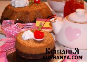 Пирожное «Бизкошокофлан» фото
