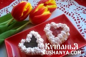 Пирожное «Сердечки» фото