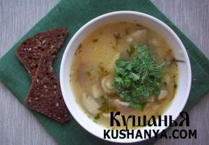 Грибной суп с крупой киноа фото