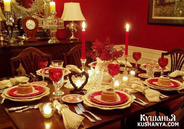 Фото Оформление праздничного стола