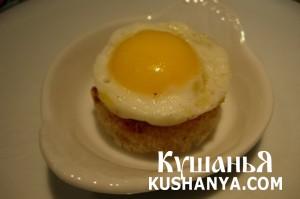 Канапе из яиц на завтрак фото