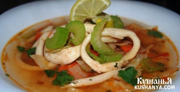 Фото Суп из кальмаров