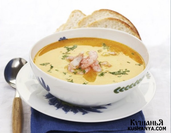 Фото Крем-суп с креветками