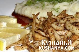 Кальмары с картофелем фото