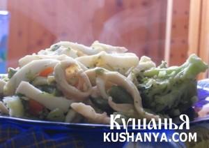 Овощное рагу с кальмарами фото