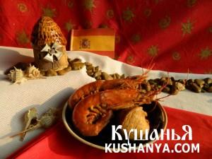 Куриное филе с лангустинами и креветками фото