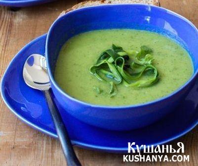 Фото Холодный суп-пюре из цукини