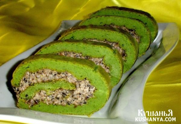 Фото Закусочный зеленый рулет