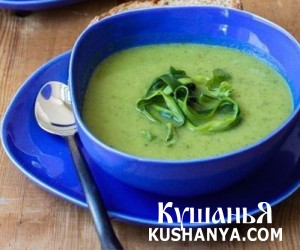 Холодный суп-пюре из цукини фото