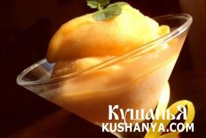Персиковый щербет фото