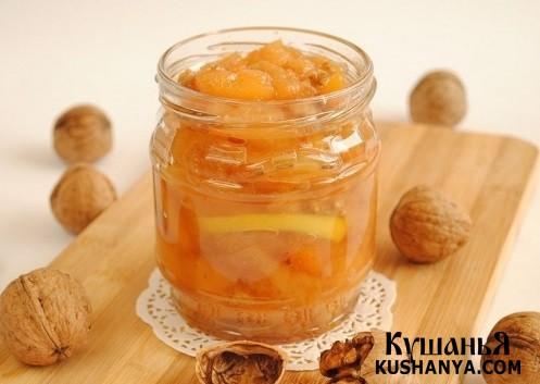 Фото Варенье из айвы с орехами и лимоном