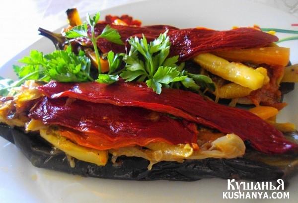 Фото Баклажаны, фаршированные овощами