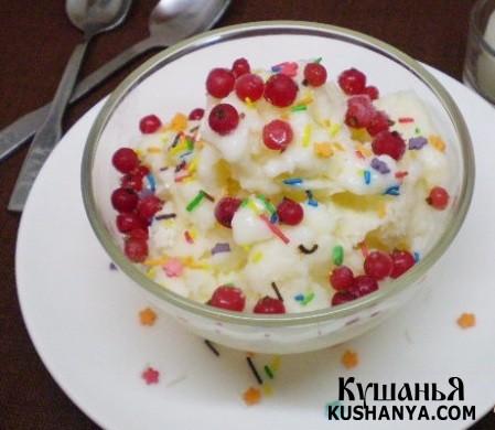 Фото Молочное мороженое