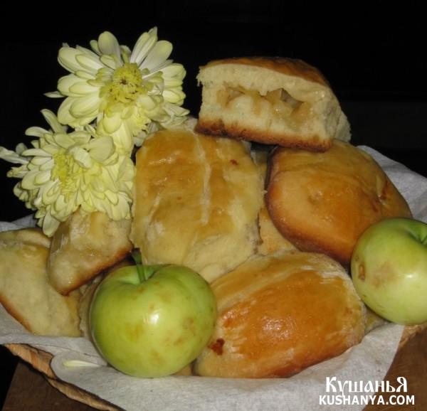 Фото Пирожки с яблоками духовые