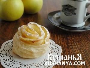 Слойки «Яблочные розочки» фото