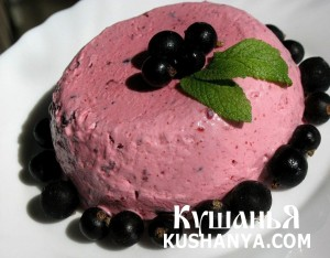 Мороженое с черной смородиной фото