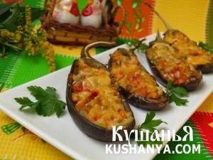 Баклажаны с овощами и копчёной грудинкой фото