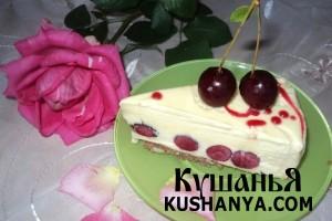 Торт-мороженое «Вишневый сад» фото