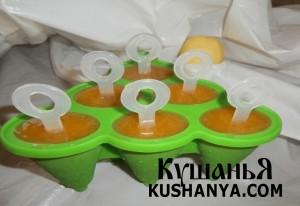 Фото Яблочно-абрикосовое мороженое