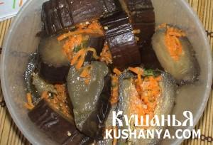Соленые баклажаны с морковью фото