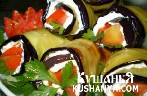 Баклажаны с творогом, чесноком и томатами фото
