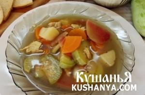 Кабачковый суп фото