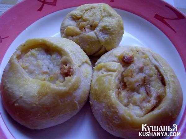 Фото Кныш с картофелем и луком