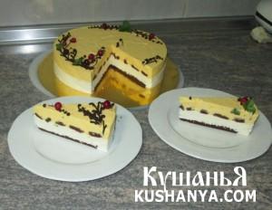Торт Манго, подробный видео рецепт. фото