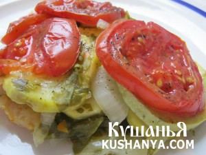 Филе пангасиуса под овощами в фольге фото