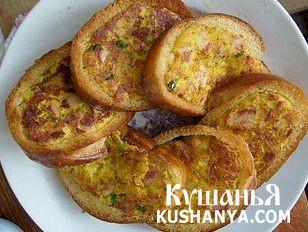 Фото Бутерброд горячий с картошкой и колбасой