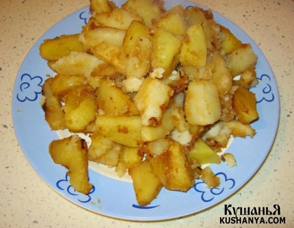 Фото Дольки картофеля в соевом соусе в духовке
