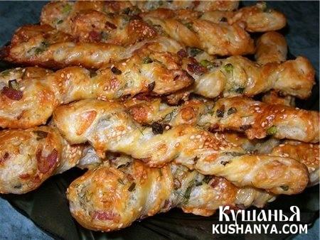 Фото Сырные палочки с колбасой