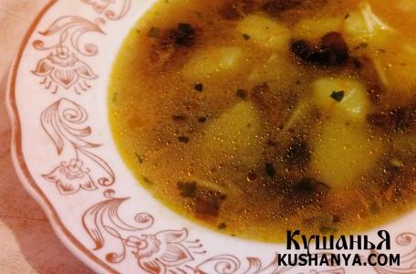 Фото Грибной суп с вермишелью