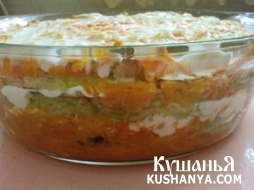 Фото Кабачки с морковью в духовке
