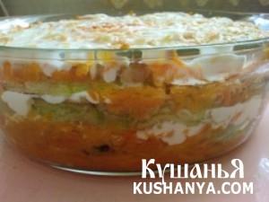 Кабачки с морковью в духовке фото